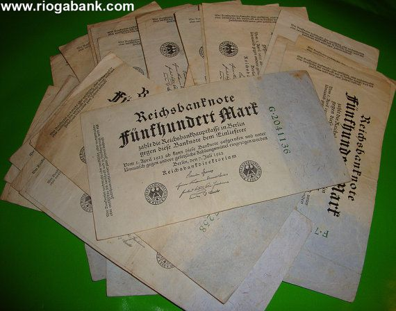 35 x 500 Papiermark Banknotes 1922 Weimar Republic, P 74b Germany, Mark, Inflation, Hyperinflation, www.riogabank.com