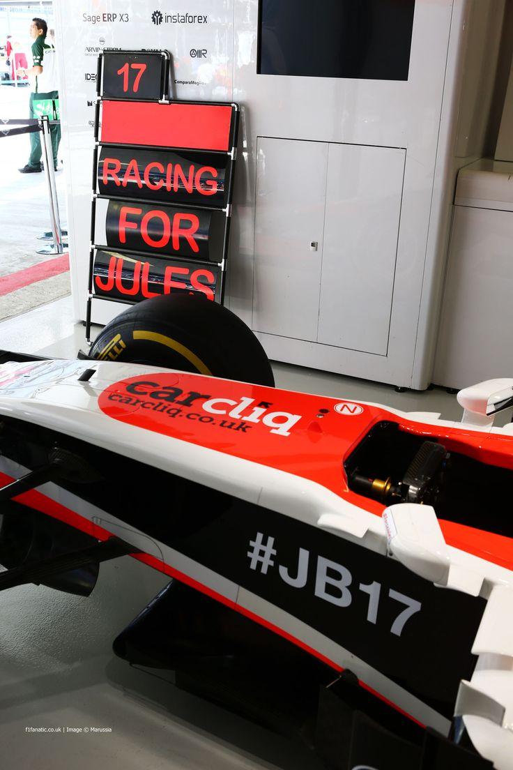 Jules Bianchi's car, Marussia, Sochi Autodrom, 2014