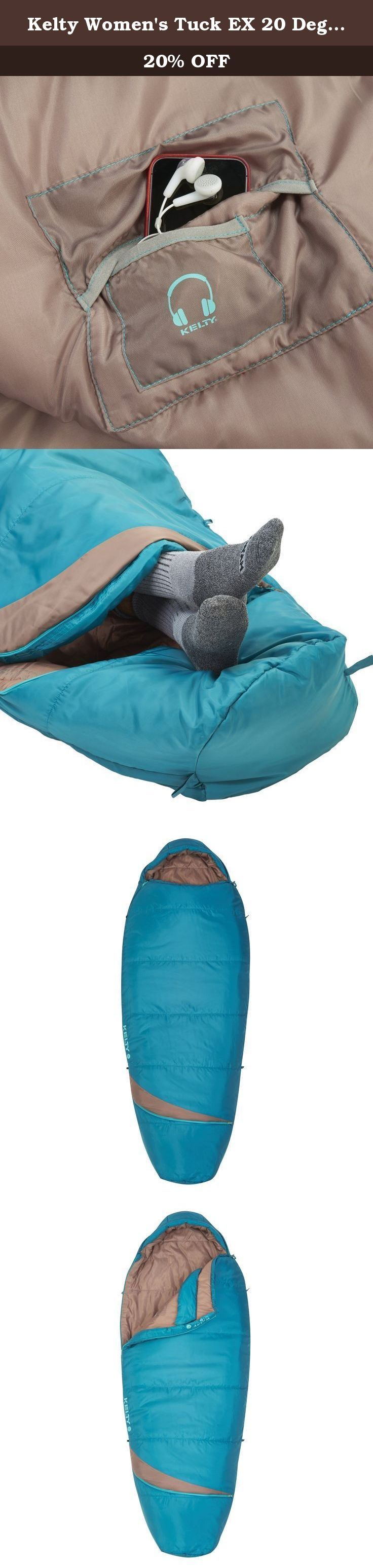 Kelty Women's Tuck EX 20 Degree Sleeping Bag, Deep Lake/Tropical Green. Deluxe. Lounge. Chair. What more do you need to know the deluxe Lounge chair comes fully-featured with everything you need to relax, including three recline positions, adjustable arms, and dual beverage holders.