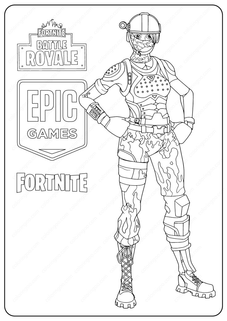 Free Printable Fortnite Elite Agent Skin Coloring Pages in ...