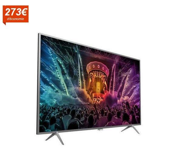 PHILIPS 55PUS6401 Smart TV LED Ambilight UHD 4K 139cm prix Téléviseur 4K Cdiscount 699.99 € au lieu de 973.96 €