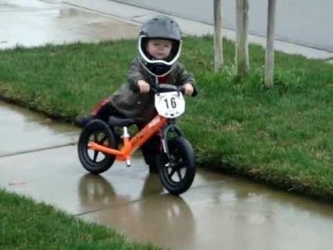 2 year old bike rider