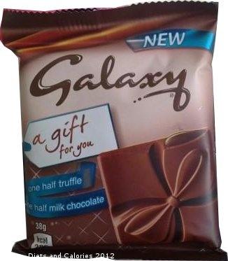 Galaxy 'A Gift for You' half truffle, half milk chocolate bar