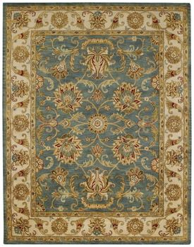 Traditional blue and gold tufted rugs bring delicacy to a home or select a contemporary style to match modern decor.