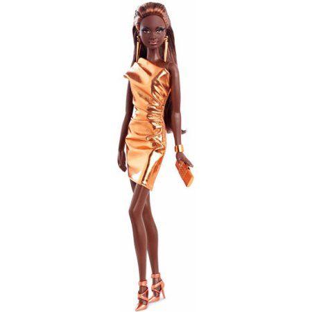 Barbie Look Doll Bronze Dress, Multicolor