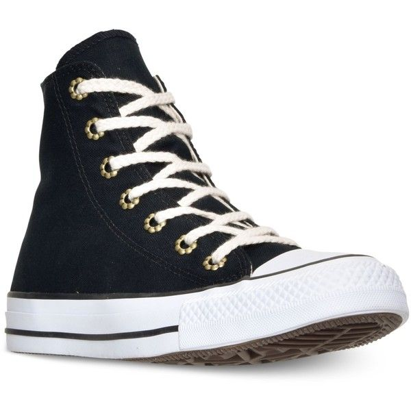Converse Women's Chuck Taylor Hi Aztec Print Casual Sneakers from... ($65) ❤ liked on Polyvore featuring shoes, sneakers, converse trainers, rugged shoes, aztec print shoes, converse footwear and vintage shoes