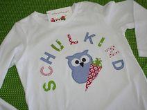 Kindershirt  SCHULKIND mit Eule und Schultüte