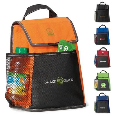 Promotional Breeze Lunch Cooler Item #GEM-TEA9451 (Min Qty: 75). Customize your Promotional Cooler Bags with your company logo and with no setup fees.