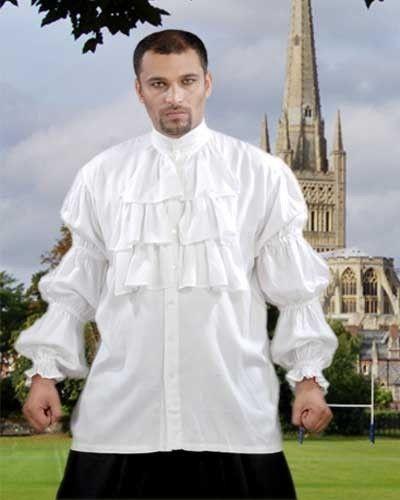 Seinfeld Puffy Shirt Medieval Renaissance Gothic Pirate White Rayon S/M-XXL 1076 #Pirate #TopsShirts