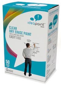 dry erase paint, paint anything you want to turn it into a dry erase board! would be good for kids' desks, even class walls, behind teacher's desk for DIY dry erase calendar, possibilities are endless!