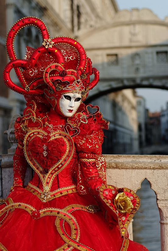 Red queen at Carnival of Venice