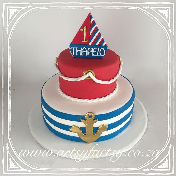 Nautical Cake #nauticalcake