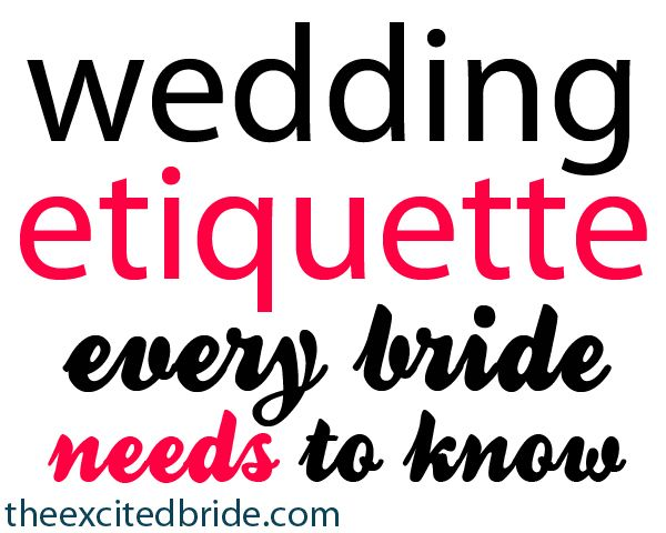 wedding invitation etiquette that every bride must know!