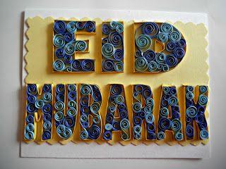 A Crafty Arab: Quilled Eid Mubarak Card
