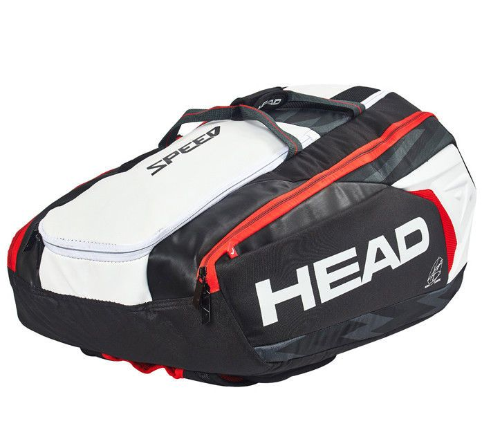 Head Djokovic 12r Supercombi Backpack Tennis Badminton Bag Black White 283008 Head Badminton Bag Bags Tennis Bag