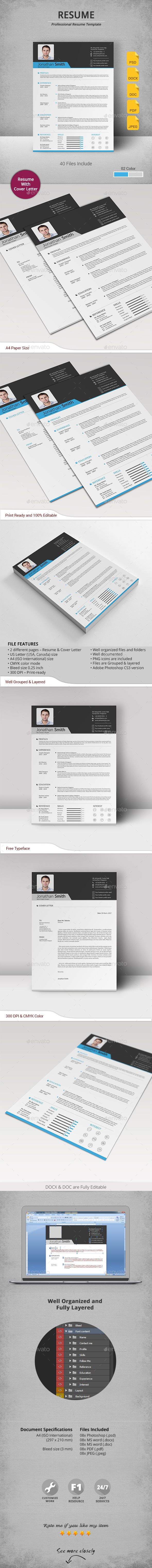 hairdresser resume%0A Buy Resume by artisanHR on GraphicRiver  Resume The Resume is designed as  simple impact and clean format for complete professional work