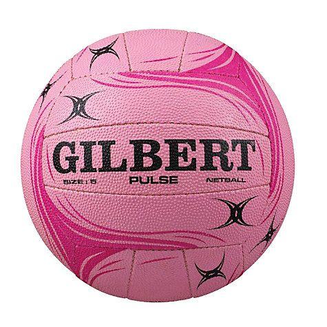 Buy Gilbert Pulse Training Netball, Pink, Size 5 Online at johnlewis.com
