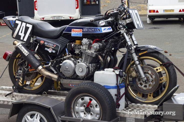 Classic Honda Bike at Le Mans France during Vintage Moto Race