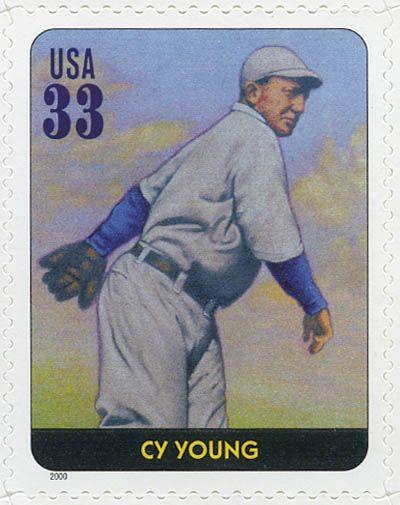 """Cy Young, """"El Ciclón"""" Denton ganó 511 juegos en sus 22 años en las Ligas Mayores, casi 100 más que cualquier otro lanzador. Un atleta durable que lanzó asombrosamente 749 juegos completos. Estados Unidos, 2000 Cy Young Leyendas del Beisbol"""