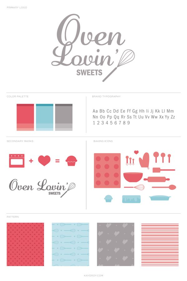 Oven Lovin' Sweets by Kayd Roy, via Behance