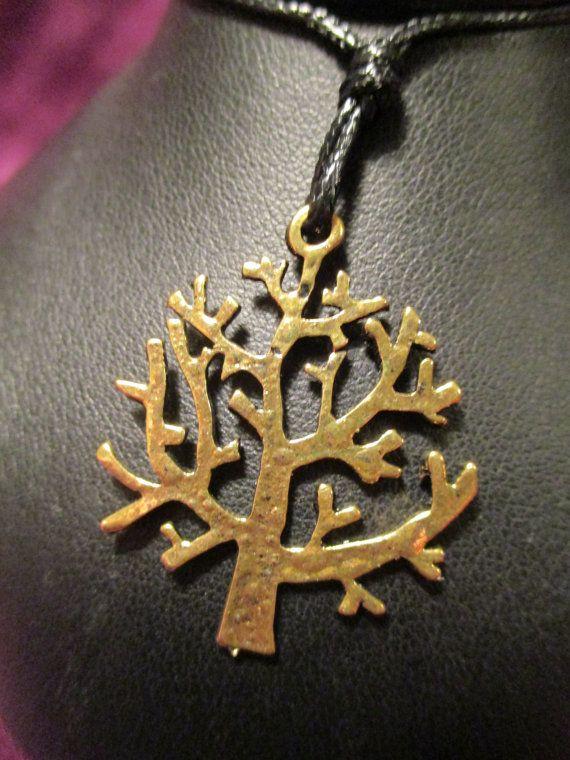 Tree Pendant on Adjustable Cord by ChocolateMountain on Etsy