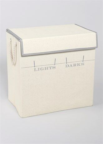 Lights and Darks Collapsible Laundry Hamper (55cm x 55cm x 35cm)