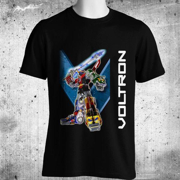 Voltron Anime Black T-Shirt FREE SHIPPING