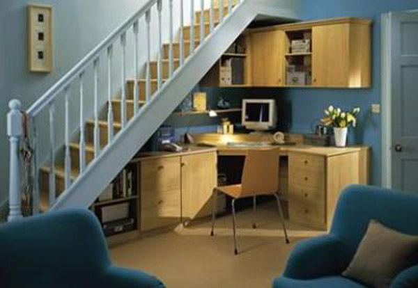 10 best images about office under stairs on pinterest for Interior decoration under staircase