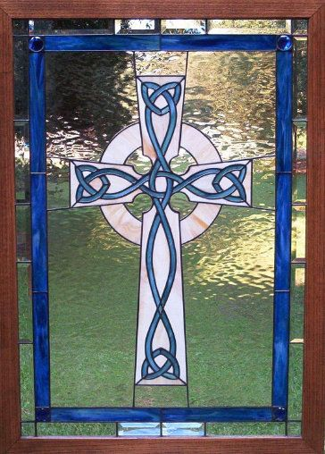 the alchemists' collection jewelry celtic cross | ... celtic irish designs in stained glass jewelry boxes stained glass