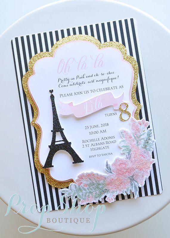 Paris Eiffel Tower Parisian Birthday