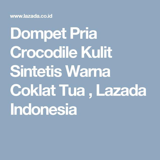 Dompet Pria Crocodile Kulit Sintetis Warna Coklat Tua , Lazada Indonesia