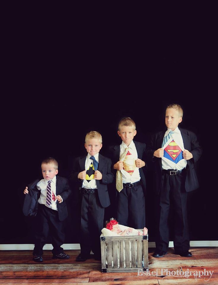 big brother superheros! This is adorable! Wish I had sons to do this. Maybe I'll get uncles to do this...