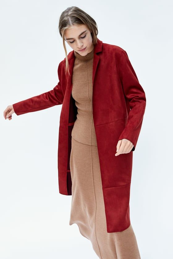 b8c33a6e Image 5 of FAUX SUEDE COAT from Zara | Spring / Summer 2018 in 2019 ...