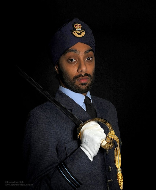 Sikh Royal Air Force Officer by Defence Images, via Flickr