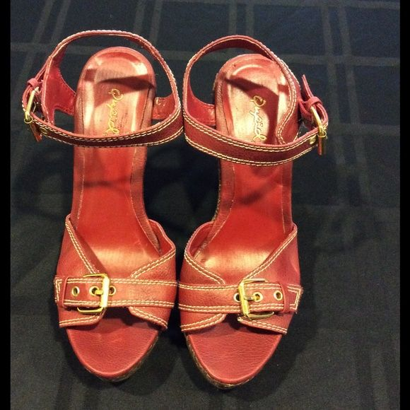 Red Wedge Heels Red wedge heels, size 7.5. Used, see pictures. Brand: Qupid. Qupid Shoes Heels