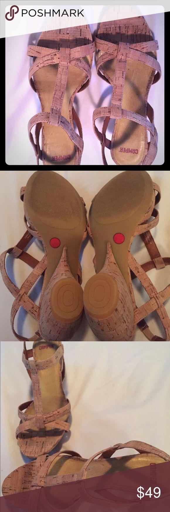 Camper Cork Wedge Sandal Size 39 Gently used Camper Cork Wedge Sandal Size 39 Camper Shoes
