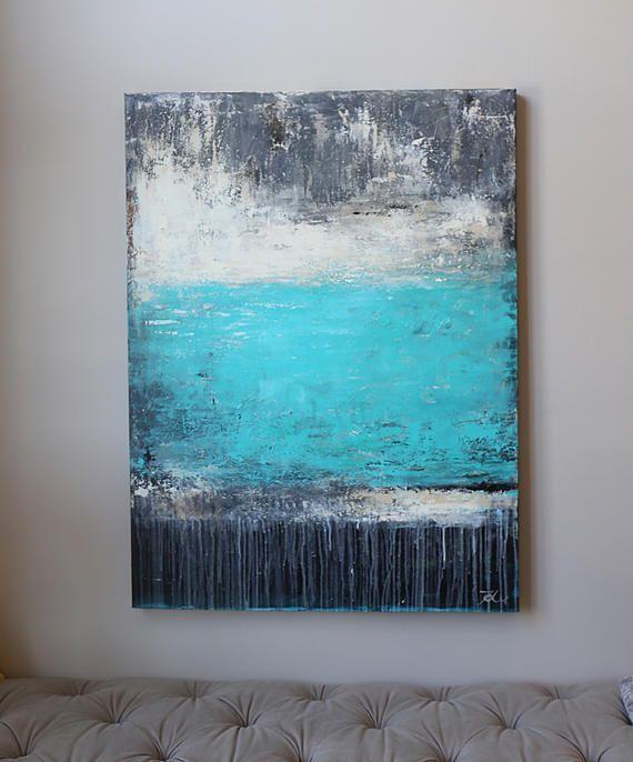 groot schilderij Modean abstracte schilderkunst kunst aan de