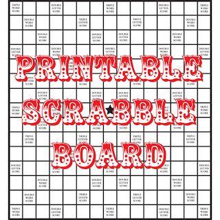 Quirky Artist Loft: DIY Printable Scrabble Board