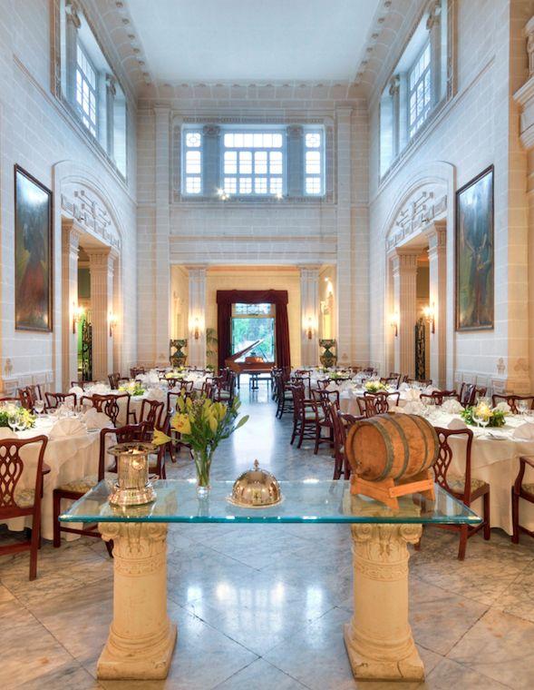 Inside, you'll find two formal restaurants; Villa Corinthia (here) serves Mediterranean fare.