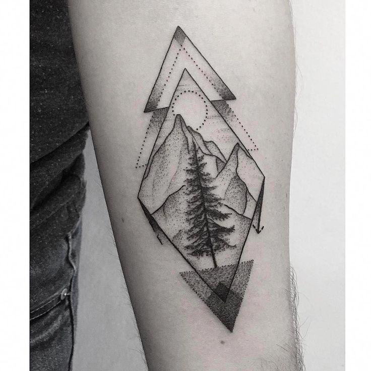 geometrisches Tattoo-Design #Geometrictattoos