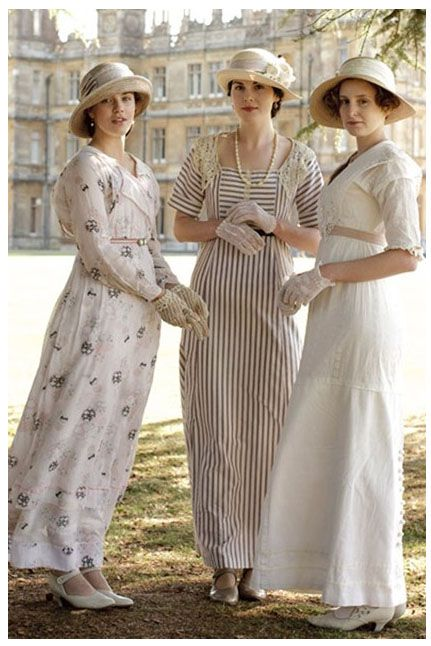 Downton abbey (UGH, these girls. The costume design.)