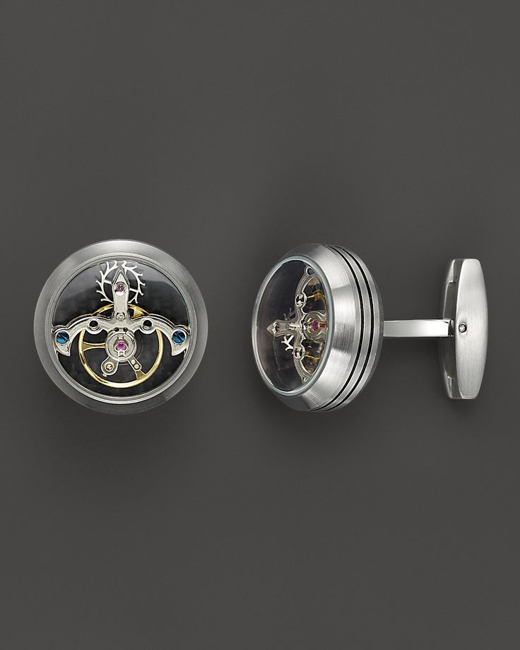 TF Est. 1968 Brushed Stainless Steel Tourbillon Cufflinks