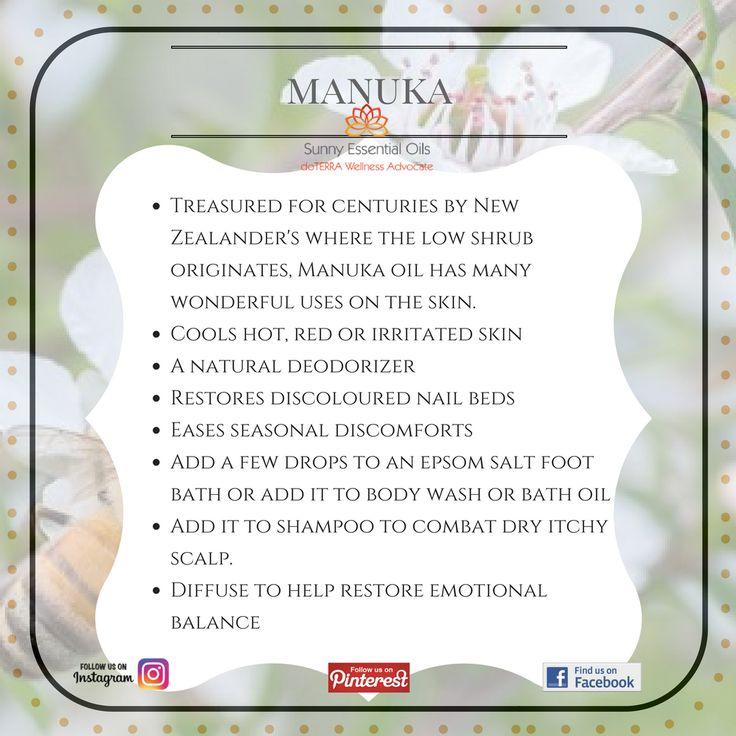 Manuka Essential Oil info  Facebook: https://www.facebook.com/sunnyessentialoils/  Instagram: @sunnyessentialoils
