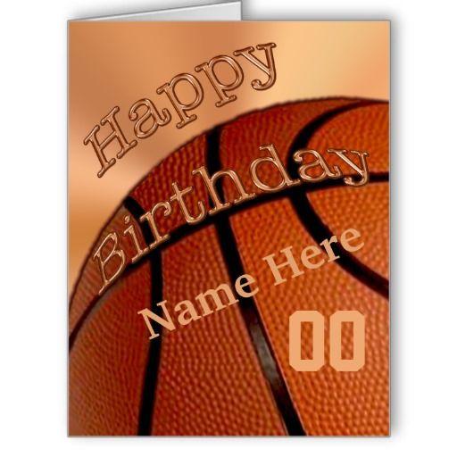 BIG Personalized Happy Birthday Basketball Cards