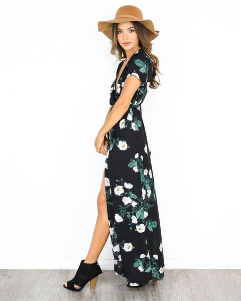Hendrix Wrap Maxi Dress