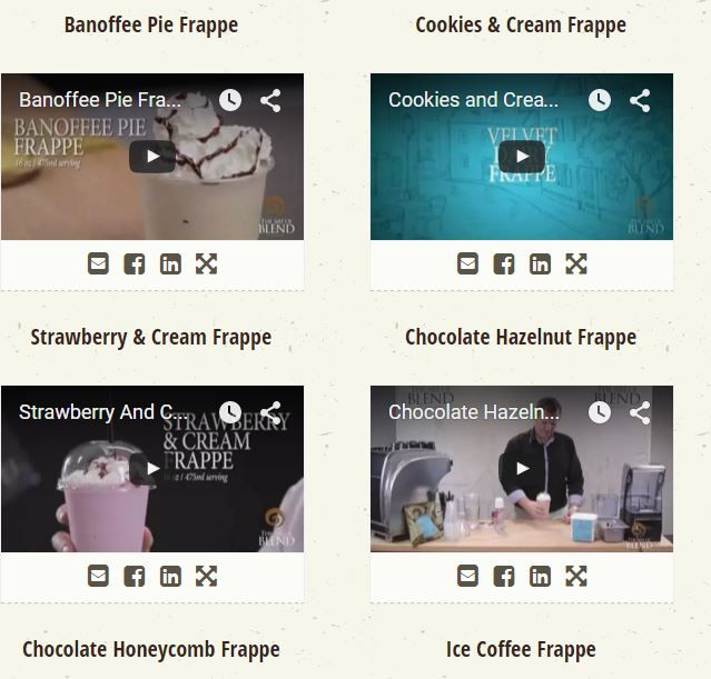 Chocolate Powder Suppliers provide recipe videos; acquire new creative concepts of making delicious beverages using the beverage base Velvet Dairy Frappe Base through watching those. They provide informative videos for seven different beverage bases, created by experts having experience of more than three decades. They also provide written recipes for all their beverage bases with different flavours and formulations