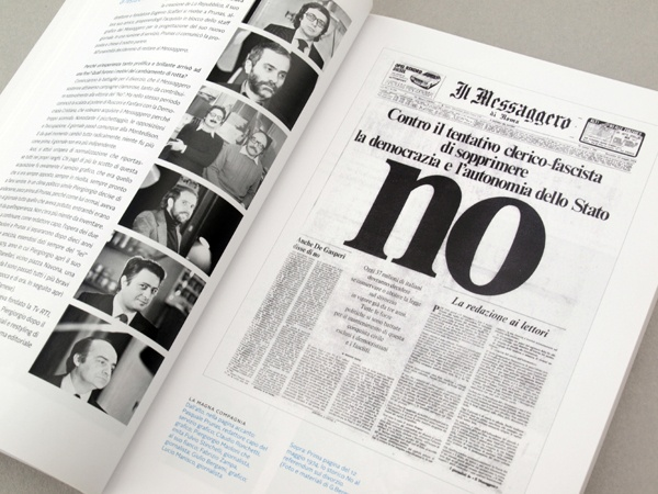 Piergiorgio Maoloni - Quotidiani, Newspaper design graduation thesis by Chiara Athor Brolli, via Behance