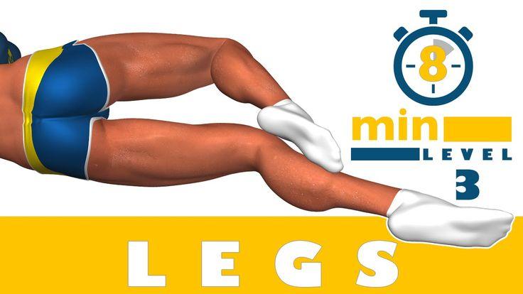 Treinamento das pernas em 8 minutos - Nível 3