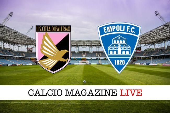 Palermo-Empoli risultato in diretta tabellino in tempo reale