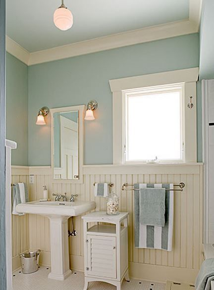 ♛ bathroom wall treatment #Home #Decor #Design  ༺༺  ❤ ℭƘ ༻༻   IrvineHomeBlog.com